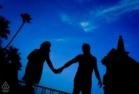 Blue Night Sky for Engagement Portraits in Murcia Spain