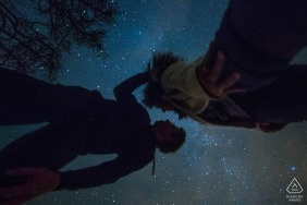 Germany wedding photographer engagement portrait of a couple | stars and sky | Hesse pre-wedding pictures