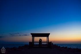 Des silhouettes à l'océan pour cette séance de fiançailles à Jalisco à Puerto Vallarta