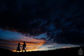 Rocky Mountain sunset engagement portrait session on Loveland Pass