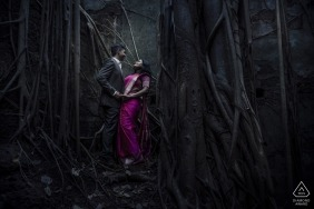 Mystery fort couple shoot for their pre-wedding engagement photos in India