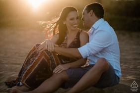 Rio de Janeiro destination wedding photographer for Macaé engagement sessions in the warm sun