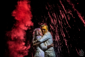 Holi Powder Engagement Portrait Session | Boulder Wedding Photographer