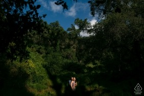 Mountain Engagement Session in the trees | Los Angeles Weddings