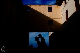 San Jose, California Wedding Engagement Photograph - Urban Silhouette