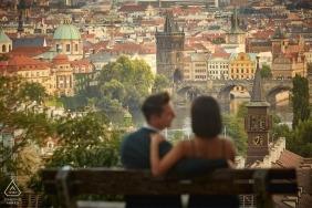 Wedding engagement & surprise marriage proposal in Prague C&D