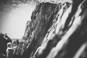 Séance photo d'engagement à Polhawn Fort Beach - GRW Photography