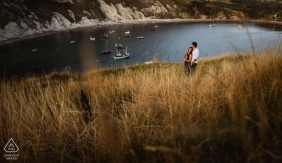 Dorset Pre Wedding Engagement Photography by the Water - England Photographers