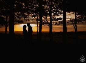 Photographe de fiançailles mariage Dorset | Angleterre photographie au coucher du soleil