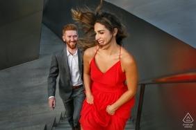 LA Pre Wedding Wedding Photography - Photographes de Walt Disney Concert Hall
