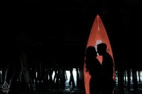 N. CA Verlobungsbild eines Paares in der Nacht | Liebe vor der Hochzeit