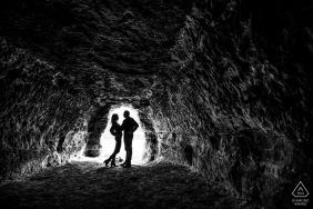 Photographie de fiançailles silhouette de couple d'un couple à Minneapolis