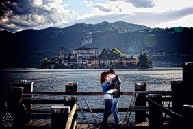 Photographie de mariage destination Milan au bord du lac | Photographes de fiançailles en Lombardie
