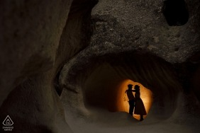 Turkey Pre Wedding portrait session in the Cave