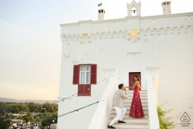 Marco Odorino, of Bari, is a wedding photographer for