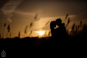 Channel Islands pre wedding photography from a sunset shoot in the tall grass