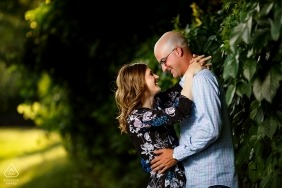Engagement session at Red Run Golf Club, Michigan - Illinois
