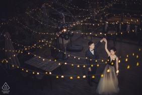 Fujian, China Retratos de Noivado Pré-Casamento com cordas de luzes