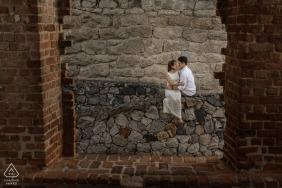 Rio de Janeiro, Brasil engagement session with bricks and stones