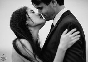 San Francisco - A kiss... Almost! - California Engagement Photographer