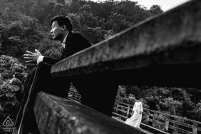 Pre Wedding Phuket Portraits on the bridge | Phuket Engagement Photographer