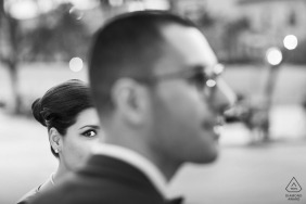 Black and White Pre Wedding Picture by Photographer in Sicily