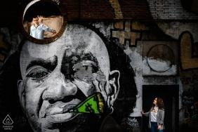 Retrato de graffiti com casal | Photographe do acoplamento de Valladolid