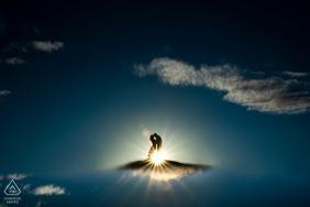 Loveland Engagement Shoot | Colorado Wedding Photographer - Bride and groom silhouette
