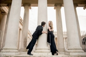 Legion of Honor engagement session - fun with couple