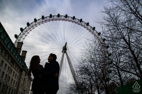 London engagement couple portrait shoot at London Eye