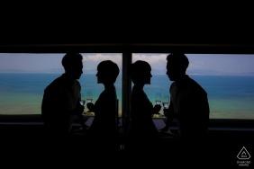 China Silhouette Portrait - Photographie de fiançailles
