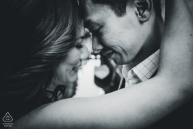 pre wedding venice photographer for black and white couple portraits
