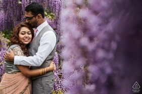 Spring Portrait Session in the Purple Flowers - Maryland Engagement Photography