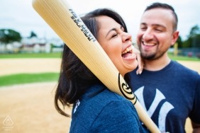 NJ Baseball Themed Engagement Session