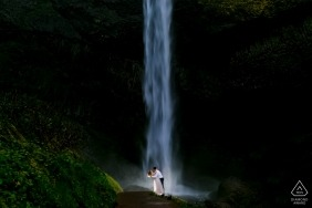 Portland Photographer - Oregon Coast Engagement Shoot - Waterfall Engagement