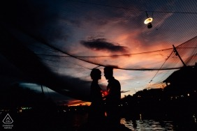 This photo was taken at Hoi An at sunset - VN Engagement Photographer