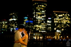 City night light - California Engagement Photos