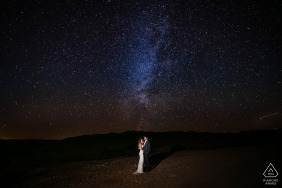 Santa Monica Wedding Photographer - Long Exposure Engagement Portrait