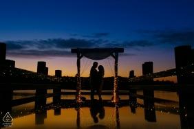 Photographie de mariage à Los Angeles - Silhouette de proposition de fiançailles