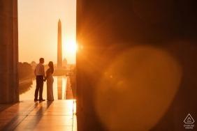 Lincoln au lever du soleil - Séances de photos d'engagement du Maryland