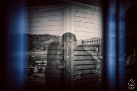 Réflexion de couple - La Spezia Engagement Photography