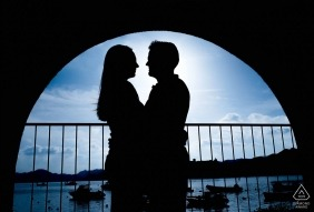 Photograph captured at sunset on a beautiful pier - Murcia Engagement Photos