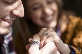 Le Pinete - Viggiù - Retrato pré-casamento de Varese com anel de noivado visível