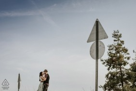 mersin/Turkey pre-wedding Photos | Love signs indicate there is love ahead on this road