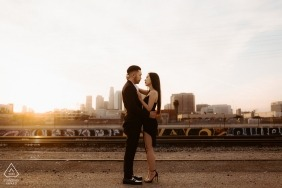 Pre-wedding portrait photographer - Downtown Los Angeles...A city romance
