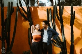 Downtown Los Angeles engagement portraits - A piece of desert in the city