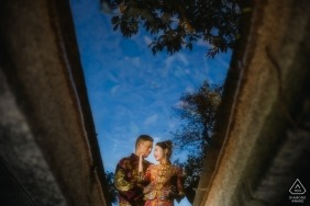 FUZHOU, CHINA pre-wedding photo shoot | The newlyweds' reflection