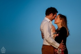 Engagement Shoot at St Brelades Bay, Jersey, CI - a young couple in love