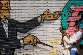murcie photos de pré-mariage | fresque murale du chef d'orchestre