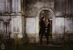 Pre-wedding portraits at Christchurch Priory | engagement photography session
